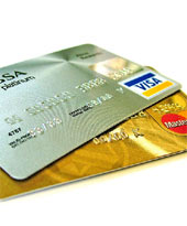 Some credit cards are rejected when purchasing credits at online casinos...